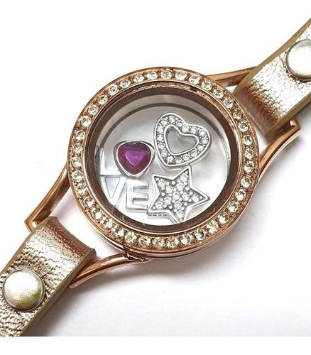 charms flutuantes prata 925 para relicário visor de vidro