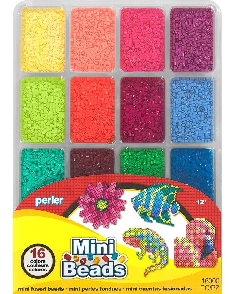 Charola 16000 Cuentas Mini 2 6mm Tropical Color Perler Beads