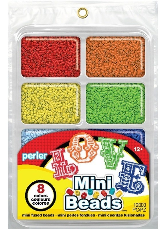 Charola 8000 Cuentas Mini 2 6mm Colors Arcoiris Perler Beads