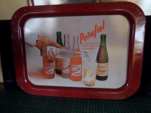 charola antigua de refresco peñafiel 80s