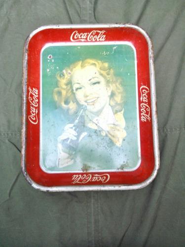 charola de la decada de los 40s de coca cola mexico