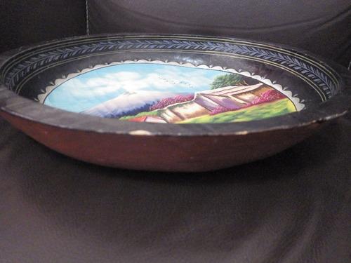 charola de madera, artesania popocatepetl