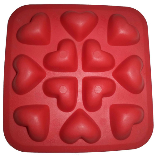 charola de silicon para hielo forma de corazones