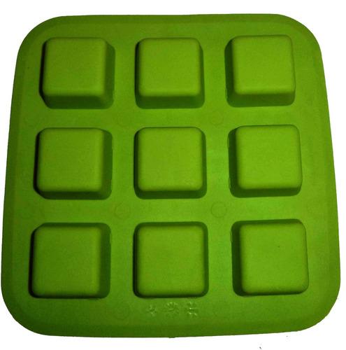 charola de silicon para hielo forma de cubo