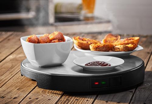 charola giratoria mantiene alimentos calientes lazy susan
