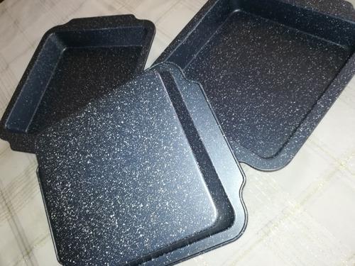 charola metálica para horno y cocina 23 x 23 x 4.5 cm