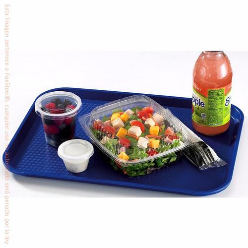 charola servicio restaurantera de plástico media 12 piezas