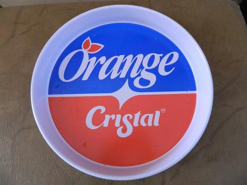 charola vintage marca cristal
