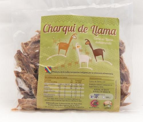 charqui de llama. producto de la puna argentina. alma nativa