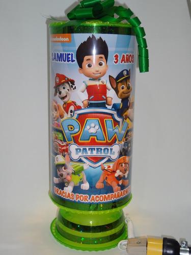 chase paw patrol 10centros mesa lámpara38cm personalizad env