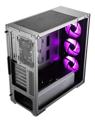 chasis / case / torre cooler master mb511 con 3 fan rgb