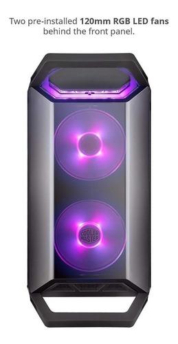 chasis cooler master q300p 2 fan rgb caja sin fuente