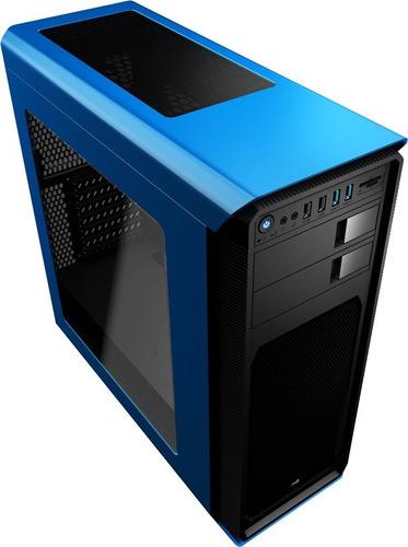 chasis gabinete aerocool aero-800 window azul