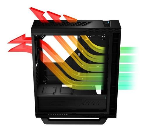 chasis gabinete caja atx gamer aerocool p7 c1 pro negro