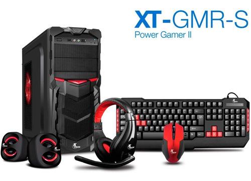 chasis gabinete gamer xtech teclado diadema mouse bocinas