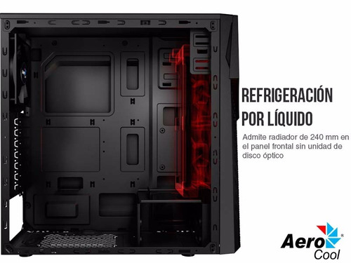 chasis gamer aerocool cyberx advance led sin fuente
