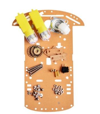 chasis para robot movil material acrilico | mecaelectronics