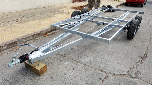 chasis para trailer con suspension y freno en las 4 ruedas