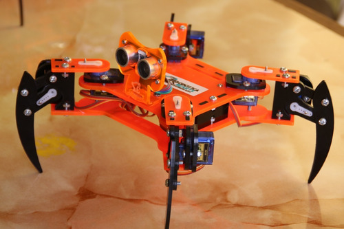 chasis robot quadrupedo araña