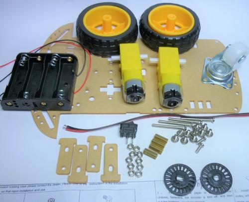 chasis robot seguidor avr atmega pic arduino encoder
