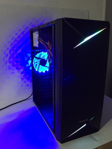 chasis segotep sg-knight ventana acrilico-led azul frontal
