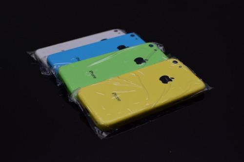 chasis tapa iphone 5c amarillo verde blanco pink instalado