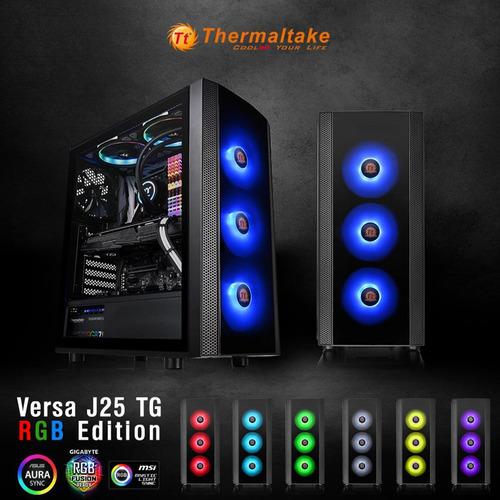 chasis thermaltake j25 vidrio templado mas tres ventiladores