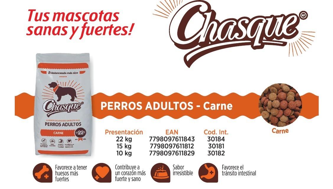 Chasque Perro Adulto Carne 22 Kg + Envio Gratis - $ 295,00 en ...