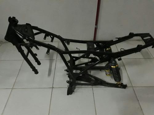 chassis moto con amortiguadores a gas para competicion