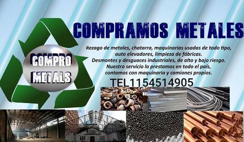 chatarra compro.metales acero inox.desguace industrial.etc..
