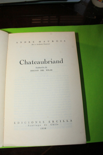 chateaubriand  andre maurois