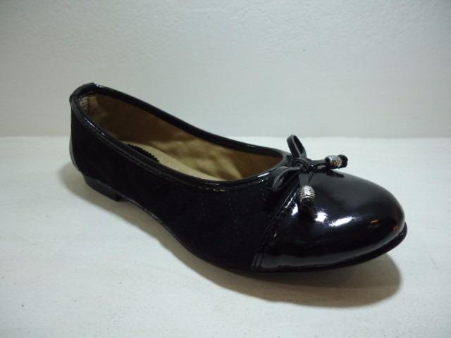 bd0cb573 Chatita Ballerina Zapato Mujer Simil Cuero Y Gamuza A1711 - $ 490,00 ...