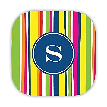 Chatsworth Bright Stripes Hard Back Coasters With Single In ...