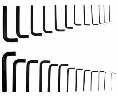 chave allen brasfort 25 peças 1/20 a 3/8 e de 1,0 a 10mm