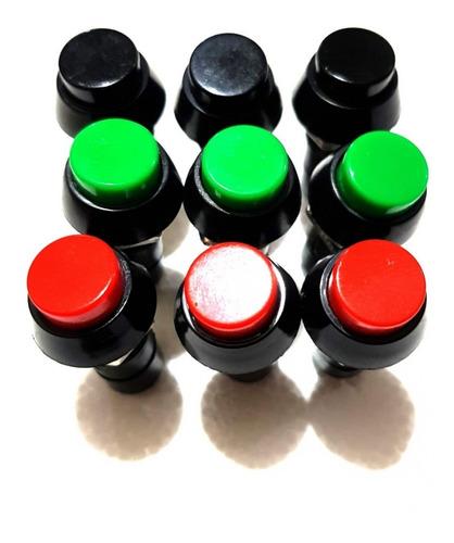 chave botão com trava liga desliga com 100 unidades