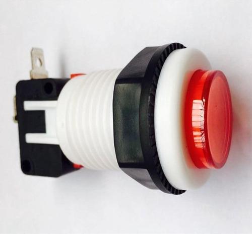 chave botão push button psb-29 vermelho (200 peças)