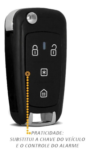 chave canivete alarme px80 positron  293/300/360 flex + code
