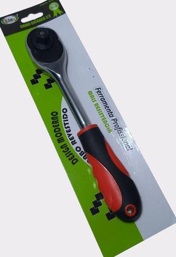 chave catraca reversível 1/2  p/ soquetes aço cromo vanádio