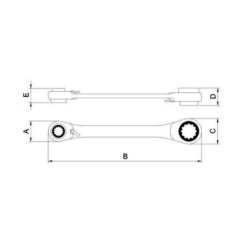 chave com catraca 4 bocas 8x9x10x11 mm tramontina 44637101