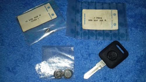 chave com iluminação para gts e gti vw original (virgem)