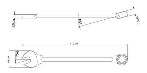 chave combinada 32mm cromado aço esp. 41128132 tramontina