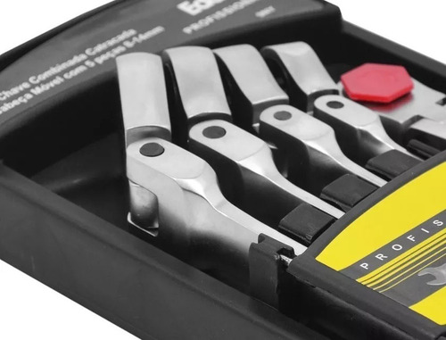 chave combinada catracada articulada jogo c/ 5 pcs - eda 9ny