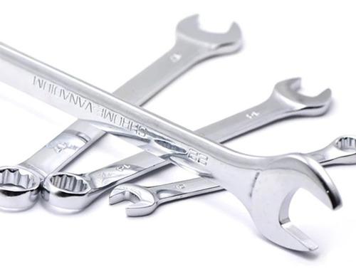 chave combinada com 8 peças 6-22mm cr-v  linha profissional