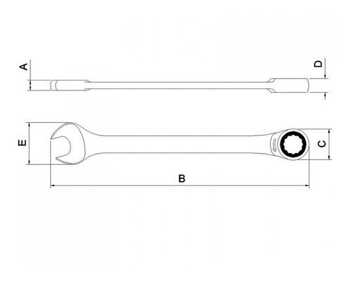 chave combinada com catraca 32mm tramontina pro hfwt