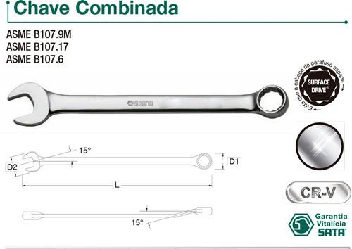 chave combinada profissional 9 mm - sata - st40204sc