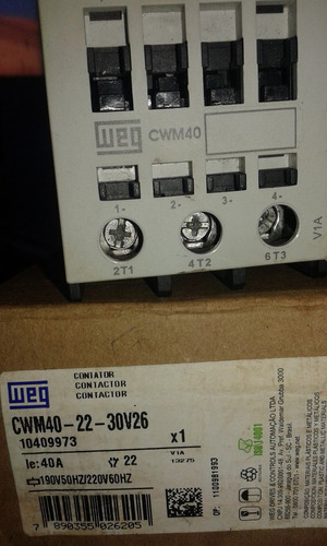 chave contatora cwm 40 weg 220v
