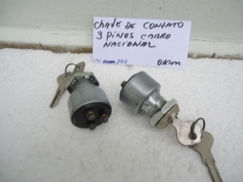 chave de contato 3 pinos carros nacionais okm