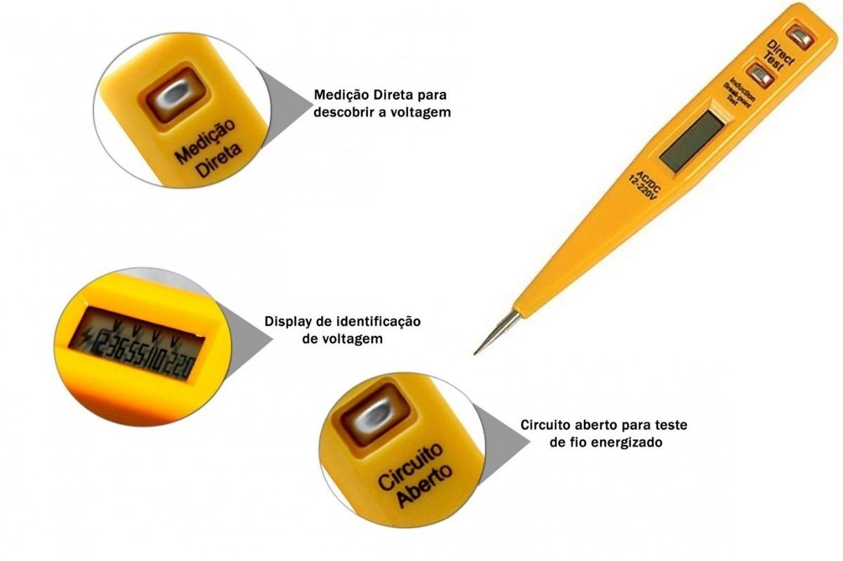 Circuito Aberto : Chave de fenda teste 12v 110 220 volts digital r$ 24 90 em mercado