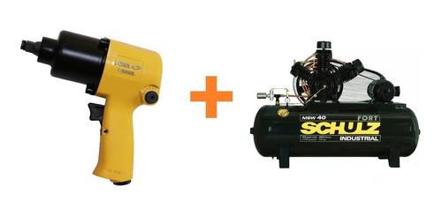 chave de impacto 1/2 pneumatica c/ soquete 66,0kgf+fort msw