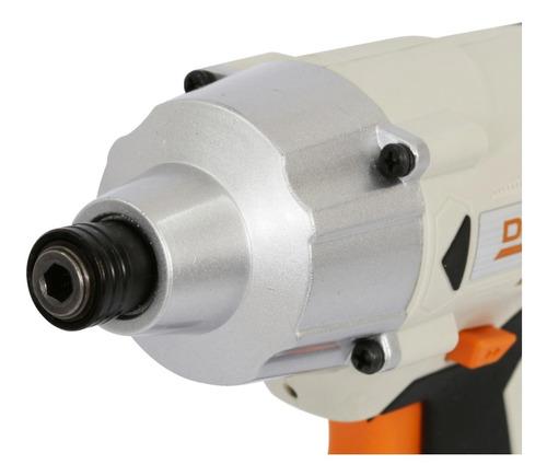 chave de impacto 1/4  18v cid18ld dexter madeira e metal